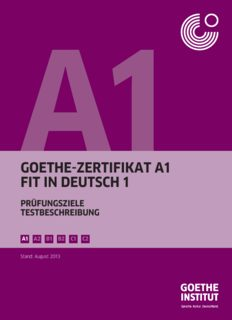 Goethe Zertifikat A1 Fit In Deutsch 1 Pdf Drive