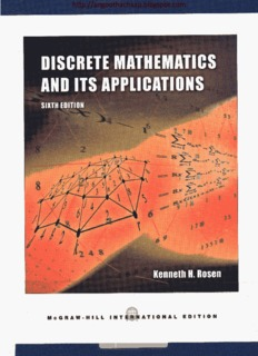discrete mathematics and its applications 6th ed by kenneth h rosen rh pdfdrive com Discrete Math Proof Solver discrete mathematics kenneth h rosen 6th edition solution manual
