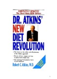 Weight Loss and Good Health:  Dr. Atkins Way
