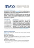 Annual NASS Disclosure Index 2014 Annual Disclosure Index