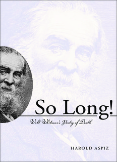 So Long! Walt Whitmans Poetry of Death.pdf
