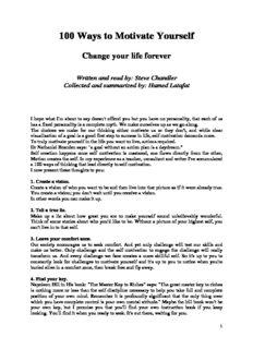 100-ways-to-motivate-yourself(muhtasari kurasa 17)