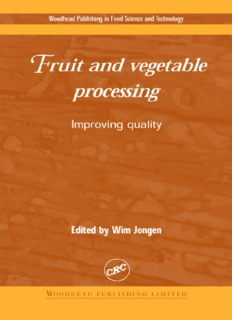 10 Maximising the quality of thermally processed fruits and vegetables