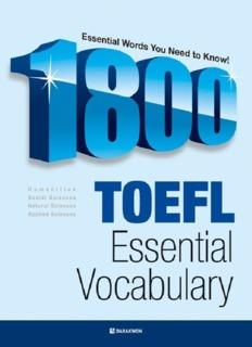 تحميل كتاب 1800 toefl essential vocabulary  0aebdbdf1bb7ca0c94bbc576f86a5b57