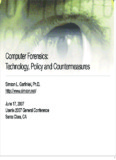 Computer Forensics: Technology, Policy and - Simson Garfinkel