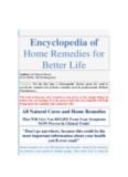 Encyclopedia of home remedies for better life