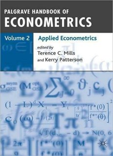 Palgrave Handbook of Econometrics: Applied Econometrics