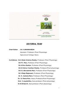 161 Crop Physiology - acharya ng ranga agricultural university