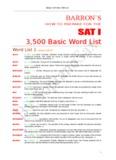 BARRON'S 3500 Basic Word List