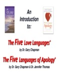 The Five Love Languages® The Five Languages of Apology