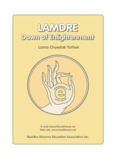 Lamdre - Dawn of Enlightenment - BuddhaNet