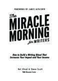 Miracle Morning for Writers – PDF - The Miracle Morning