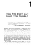 how this book can make you invisible
