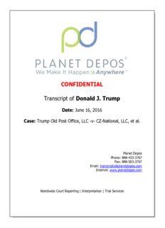 CONFIDENTIAL Transcript of Donald J. Trump