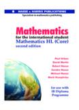 IB Mathematics HL Textbook - Central High School