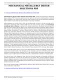 MECHANICAL METALLURGY DIETER SOLUTIONS PDF - examfor.online