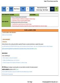 Grade 10 Physical Sciences Lesson Plans - SATeacher