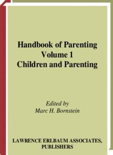 Handbook of Parenting Volume 1 Children and Parenting