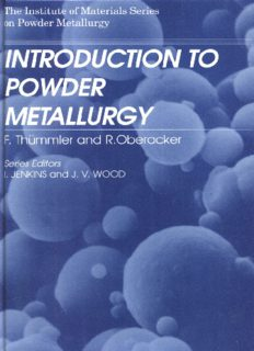 Introduction to Powder Metallurgy