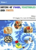 Drying of Foods, Vegetables and Fruits