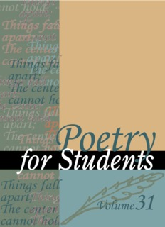 Poetry for Students, Volume 31