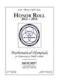 Mathematical Olympiads - Math Olympiad for Elementary Schools