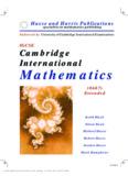 Cambridge International Mathematics