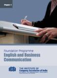 English And Business communication - ICSI
