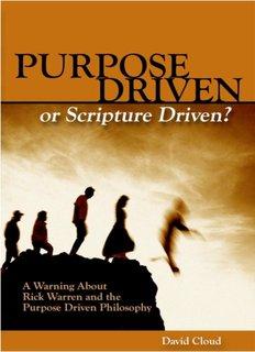Purpose Driven or Scripture Driven? - Way of Life Literature