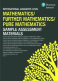 International Advanced Level Mathematics/Further Mathematics and Pure Mathematics Sample ...