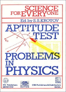 Aptitude Test Problems in Physics Science for Everyone by S Krotov