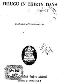 Telugu Learning Pdf