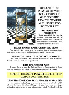 DISCOVER THE POWERS OF YOUR SUBCONSCIOUS MIND TO