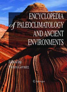 Encyclopedia of Earth Sciences Series