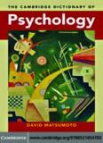 Cambridge Psychology Dictionary