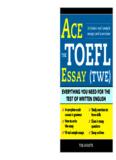 Ace the TOEFL Essay (TWE) - xiaoma.com