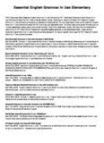 Essential English Grammar In Use Elementary PDF Book