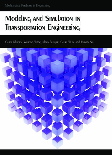 Modeling and Simulation in Transportation Engineering