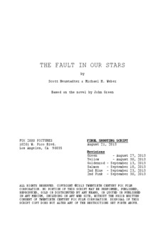 THE FAULT IN OUR STARS - Daily Script
