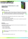 DARING GREATLY BY BREN BROWN, PH. D., LMSW READING GUIDE