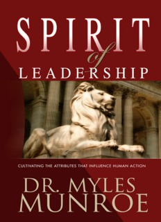 Spirit of Leadership by Myles Munroe