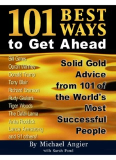 101 Best Ways to Get Ahead - As A Man Thinketh
