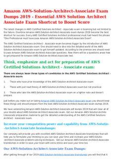 AWS-Solution-Architect-Associate Mock Exam - Latest AWS Solution Architect Associate Questions Revealed