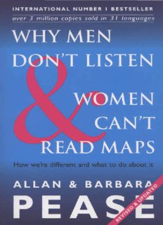 """Why men don't listen and why women can't read road maps."""