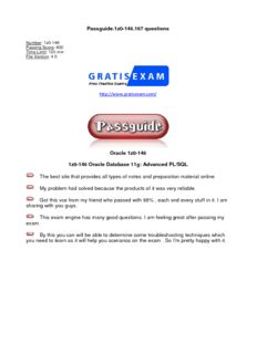 Passguide.1z0-146.167 questions Oracle 1z0-146 1z0-146 Oracle Database 11g