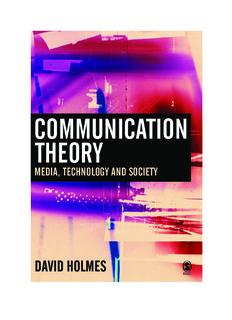 Communication Theory Media, Technology and Society