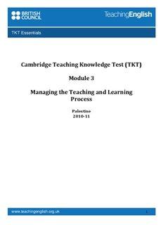 Cambridge Teaching Knowledge Test (TKT)