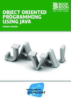 Object Oriented Programming In Java Pdf