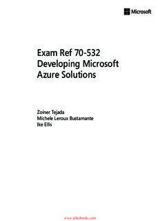 Exam Ref 70-532 Developing Microsoft Azure Solutions Ebook