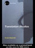 Translation Studies, Third Edition - MA Students of English Translation